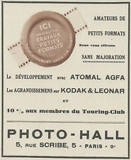 Z9899 PHOTO-HALL - Agfa- Kodak - Atomal -  Pubblicità d'epoca - 1937 Old advert
