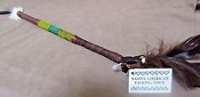 Native Navajo Handmade Leather Talking Stick  M0030