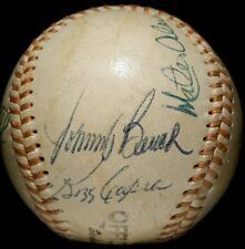 JOHNNY BENCH Signed BASEBALL hof BALL multi 1970s vtg old ALOU Reds Team RARE