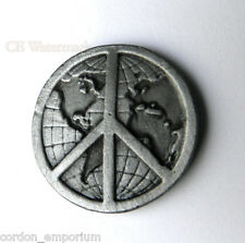 PEACE SIGN GLOBE MAP STYLE PIN BADGE ANTI WAR LOGO PIN BADGE 1 INCH
