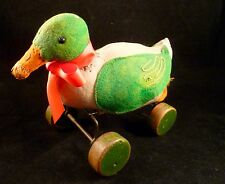 Vintage Antique Steiff Duck Felt Wood Wheels Early 1900s Pre War