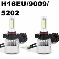 72W H16/5202 Bulb COB LED Headlight Kit All in one Car Jeep Offroad Fog Lamp