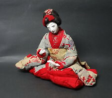 Japanese Gofun Doll: The beauty , Early Showa period, Geisha Doll ,Kimono,