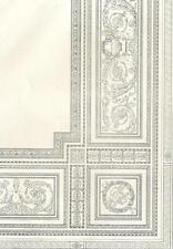 Décoration Manuel Peinture Plafond Arabesque - Architecture Lithographie XIXèm