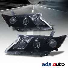 For 2007-2009 Toyota Camry Projector Black Headlights Replacement Lamps Pair