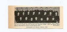 University of Omaha Nebraska 1939 Football Team Picture