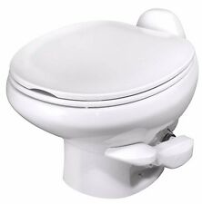 Thetford 42061 Aqua Magic Style II Low Profile White RV Toilet Porcelain w Spray