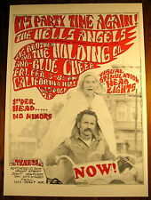 HELLS ANGELS JANIS JOPLIN CONCERT POSTER SF 60S GUT SF MIME TROUPE HAIGHT HIPPIE