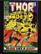 """Mighty Thor #139 ~ 1966, """"Die Like a God"""" ~ (3.0) WH"""