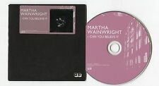 Martha Wainwright - cd-PROMO - CAN YOU BELIEVE IT © 2012 EU-1-Track-CD - POP
