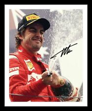FERNANDO ALONSO AUTOGRAPHED SIGNED & FRAMED PP POSTER PHOTO 1