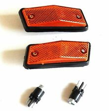 FIAT 125P 1982-1991 SIDE WING INDICATOR REPEATER LAMP LIGHT PAIR AMBER