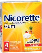 Nicorette Gum 4 mg Fruit Chill 100 Each (Pack of 2)