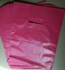 "100 12""x15"" Pink Plastic Merchandise  Bags FREE SHIPPING"