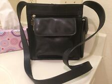 Vintage FOSSIL Est.1954 Black Pebble Leather Crossbody Shoulder Bag Purse-75082