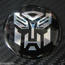Car Transformers Autobot Wheel Aluminum Emblem Sticker Badge 4 Pcs set BLACK