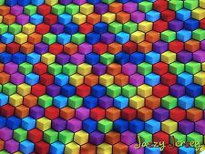 Rainbow cube french terry en tricot