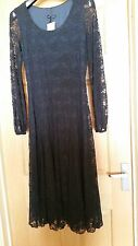 NEW James Lakeland Navy Blue Lace Dress Italian. Party Long Sleeves BNWT Size 10