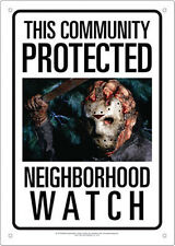 This Community Protected By Jason, Friday the 13th Movie Photo Tin Sign Poster