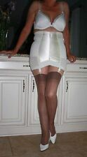 Vintage Crown Firm Control Open Bottom Girdle with Side Zipper and Garters Wh 5X