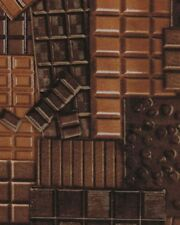 Fat Quarter Chocolate Bars Confection Affection Cotton Quilting Fabric Benartex