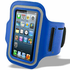 Sports Running Jogging Armband Waterproof Case Cover for iPhone 4, 4s Dark Blue