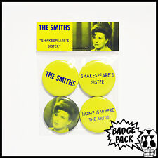 The Smiths - Shakespeare's Sister Button Badge Pack - 4 x 25mm Button Badges