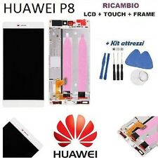 "lcd display touch screen frame per huawei p8 5,2"" GRA-L09 bianco nuovo P8"