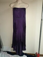 White by Vera Wang Dress High-Low Charmeuse VW360169 Amethyst Plus Size 22 NWT