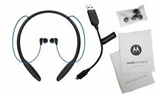 New Motorola Moto Surround Wireless Bluetooth Earbuds Headset Sweat & Waterproof