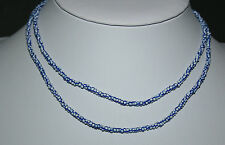 Striped pound trade beads blue core venetian antique