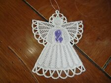 Embroidered Ornament - Christmas - Pancreatic Cancer Angel