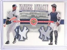 2002 Upper Deck Yankee Dynasty Posada Roger Clemens Jersey #YJCP *59865