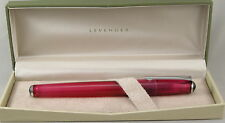 Levenger True Writer Pinkly Pink Transparent Fountain Pen - Broad Nib - New