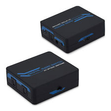 KWMOBILE TOSLINK AUDIO SPDIF SWITCH VERTEILER 2x1 FERNBEDIENUNG
