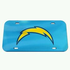 SAN DIEGO CHARGERS CRYSTAL MIRROR CAR LICENSE PLATE BRAND NEW FREE SHIPPING!