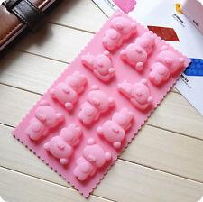 11 Rilakkuma Bear 3D Brick Mold Silicone Tray Chocolate Ice Cube Jelly Fun Mould
