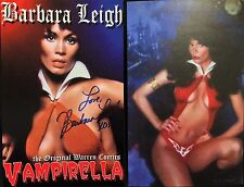 OFFICIAL WEBSITE Barbara Leigh VAMPIRELLA 5X8 (2 sided) Postcard AUTOGRAPHED