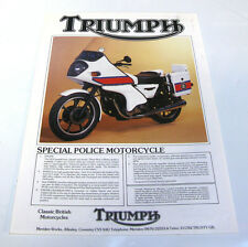 TRIUMPH POLICE MOTORCYCLE & TSX4 - Motorcycle Brochure - 1983