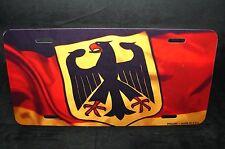 GERMAN WAVING FLAG METAL NOVELTY LICENSE PLATE Deutschlandfahne Bundesflagge