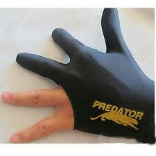 Black Spandex Snooker Billiard Cue Glove Pool Left Hand Three Finger Accessory @