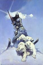 SILVER WARRIOR - FRAZETTA ART POSTER - 24x36 FANTASY 807