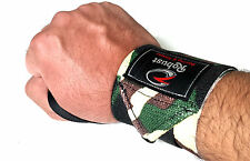 Robust Power Weight Lifting Wrist Wraps Hand Support Gym Straps18'' Camouflage