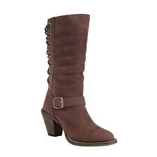 Durango CITY Austin Sexy Moto Cowgirl Western Bown LaceUp Boots RD038 Women's 6M