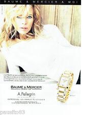 PUBLICITE ADVERTISING 066  2006  Baume & Mercier  montre Temps & Kim Basinger