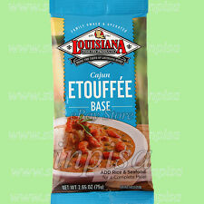 LOUISIANA CAJUN ETOUFFEE BASE 6 Bags x 2.65oz, FOR CRAWFISH, SHRIMP, OR CHICKEN