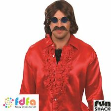 70'S WIG & TASH GROOVY DISCO HIPPY HALLOWEEN - mens fancy dress accessory