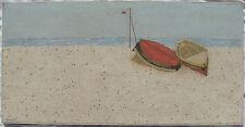 Marino SORMANI (Aurisina 1926- Trieste 1995) Spiaggia OLIO cm 50x100 anno 1973