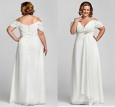 New White/Ivory Wedding Dress Bridal Gown Custom Plus Size 18 20 22 24 26 28 +