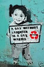 Australian Seller BANKSY A1 SIZE PRINT canvas Girl  karma quote